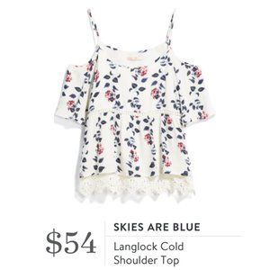 Skies Are Blue Langlock Cold Shoulder Top
